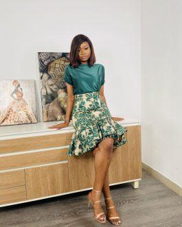 AGV Brocade Skirt Set